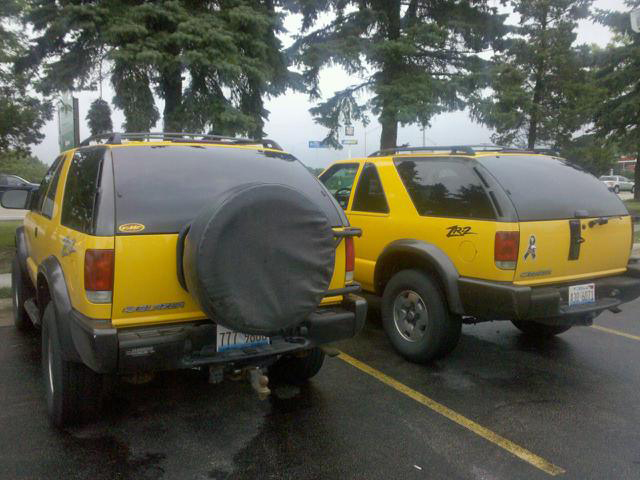 Spare tire carrier probably because of some of these issues when blazer owners give up on the carrier most spare tires end up taking up room in the cargo area others end up publicscrutiny Gallery